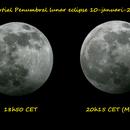 Partial lunar eclipse on 10-01-2020,                                John van Nerum