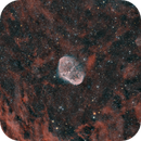 ngc6888 and PN G75.5 + 1.7(Crescent and soap bubble nebulae) HO_HOO_RGB,                                *philippe Gilberton