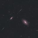 Bode and Cigar Galaxies with Iridium Flare,                                Ikjune Kim