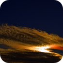 Sun and colored clouds,                                Astro-Clochard