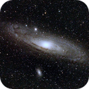 M31 with a full moon,                                Steve Clark