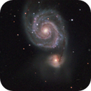 over 600 minutes on M51 taken during 2009 and 2008,                                Stefano Ciapetti