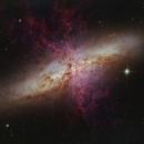 M82 in Ha / IR / RGB / UV / Xray,                                Benoit Blanco