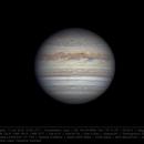 Jupiter 11 Jun 2018 - 6 min derotation - North on top,                                Seb Lukas