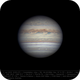 Jupiter 11 Jun 2018 - 6 min derotation - North on top,                                Seb Lukas