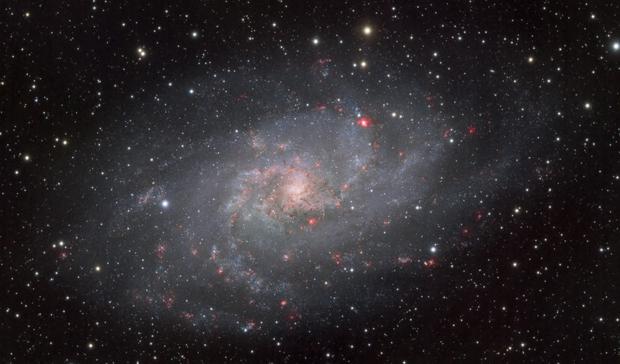 M33 - Triangulum Galaxy - LRGB + Ha,                                Chad Adrian