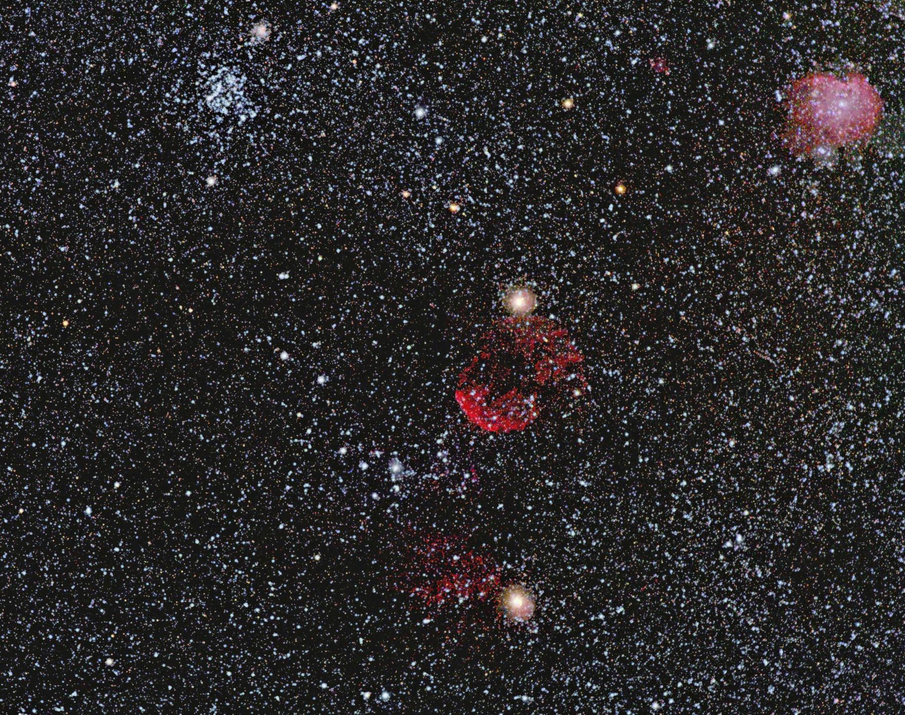 M 35, IC 443, NGC 2174: the Gems in Gemini,                                K. Schneider