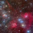 Sh2-230, IC405, IC410, IC417, NGC1931, NGC1907, M38,                                David Cheng
