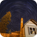 Star Trails over my house,                                Jim Nadeau