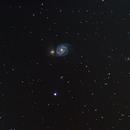 M51 Whirlpool Galaxy,                                BradHvisuals