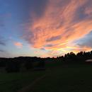 Sunset to moonrise panorama,                                xb39