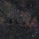 M24 Sagittarius star cloud and dark nebulas Barnard 92 and 93,                                Kharan