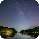 Lake Greenbriar and Milky Way,                                Chris Barthel