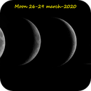 Moon images from 26-29 march 2020,                                John van Nerum