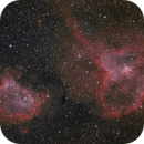 Heart and  Soul Nebula in HaO3 Bicolour,                                Alexander Laue