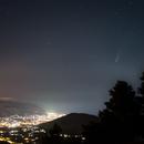 Panorama notturno con la Cometa C/2020 F3 Neowise,                                Angelo F. Gambino
