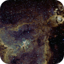 Bicolour of IC 1805 and NGC 896,                                keving