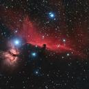 Alnitak, Horsehead nebula and Flame Nebula,                                pterodattilo