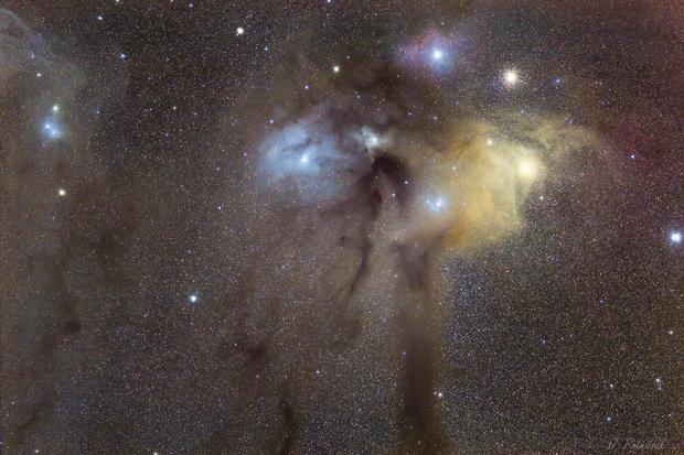 Rho Ophiuchi cloud complex - Fireworks region !,                                Jocelyn Podmilsak