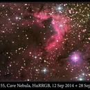 Sh2-155, Cave Nebula, HαRRGB, 12 Sep 2014+28 Sep 2016,                                David Dearden