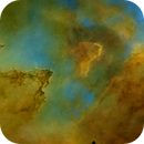 IC 1805, Heart of the Heart Nebula, Hubble Palette Starless Mosaic,                                Eric Coles (coles44)