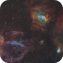 Lobster Claw and Bubble Nebula,                                Vergnes Christophe
