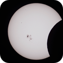Partial Solar Eclipse animated GIF (18 images 5 minutes apart),                                gmartin02