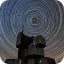 Star trails around the Monument to the uprising of the people of Kordun and Banija,                                Ivan Bosnar