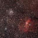 M52, Bubble Nebula and star clouds in Cassiopeia,                                Ulli_K