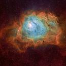 Lagoon Nebula (M8) in HybridSHO,                                Rathi Banerjee