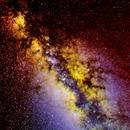 Wide Field, SHO Narrow Band Milky Way,                                Gilbert Ikezaki