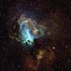 M17 Swan Nebula Hubble Palette,                                TWFowler