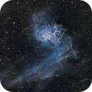 Blue Flaming Star Nebula (IC 405) in SHO,                                Chuck's Astrophotography