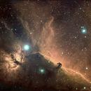 Horsehead Nebula in narrowband (HOS),                                Mike