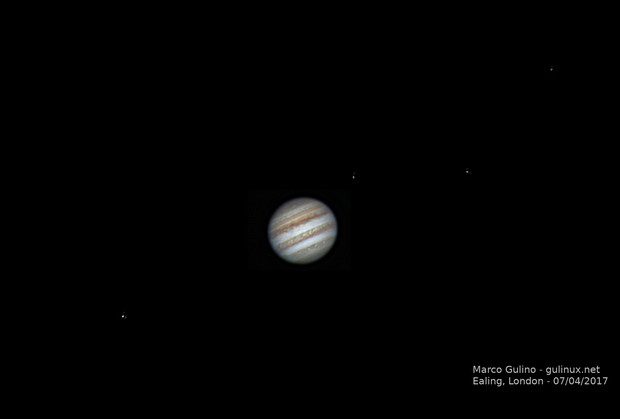 Jupiter mini animation, 07/04/2017 - single frame (1),                                Marco Gulino