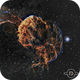 IC443 - the jellyfish nebula SHO,                                Daniel Pázmán
