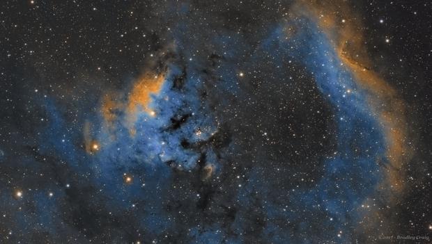 NGC 7822- Sii, Ha, Oiii,                                Brad