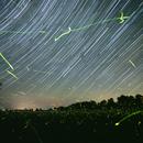Star Trails and Fire Flies - Kirkfield,                                SmackAstro
