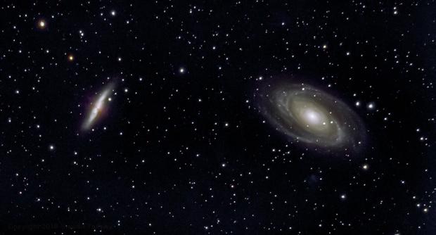 Bode's & Cigar Galaxies (M81, M82),                                dswtan
