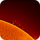 Sun with active surface and cromosphere and prototubes (Plasma and gas),                                Andreas Nilsson