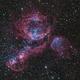 NGC 1968 – Emission Nebula in the Large Magellanic Cloud - Hybrid Image,                                Terry Robison