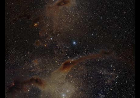 Nebulae in Taurus - two RASA panels,                                Göran Nilsson