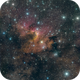 SH2-155 Cave Nebula in HSOLRGB,                                Richard Bratt