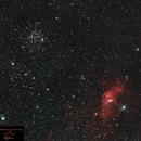 M52 & NGC7365 - The Bubble Nebula,                                Gordon Hansen