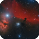 An experiment: the Horsehead nebula from a Bortle 7 site,                                Francesco Meschia