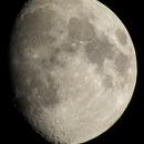 La lune du 23 octobre 2015 sans télescope,                                Thomas Collin