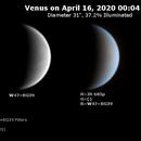 Venus on 2020-04-15 (Near-UV and IR),                                JDJ