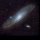 Andromeda Galaxy (30 Frame Mosaic),                                KuriousGeorge
