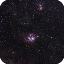 Lagoon and Trifid Nebula,                                Jeffery Vahrenkamp