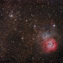 Trifid Nebula and M21,                                Thomas Richter